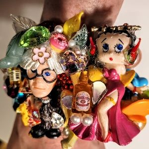 Wendy Gell Andy Warhol Betty Boop Pizza Party Cuff